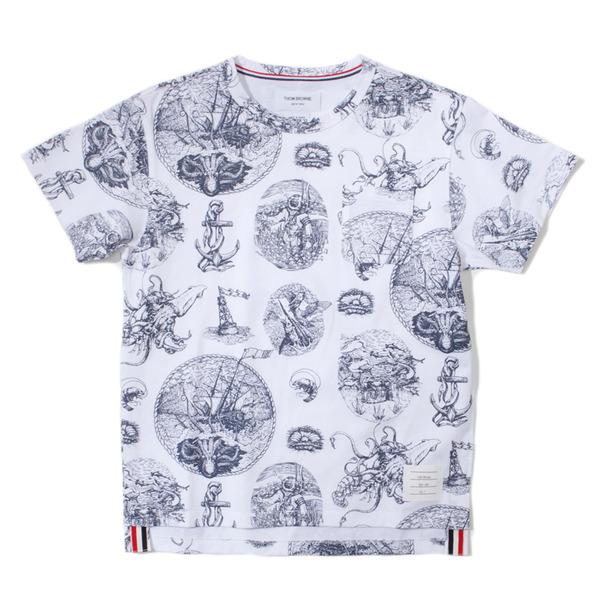 Thom Browne Tattoo Print Pocket T-Shirt-10