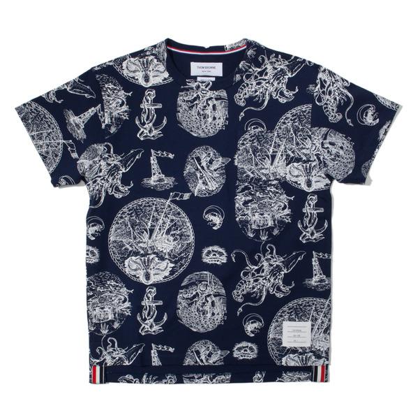 Thom Browne Tattoo Print Pocket T-Shirt