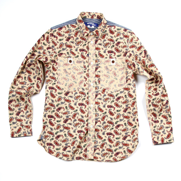 Comme Des Garcon By Junya Watanabe Paisley Inside Out Shirt