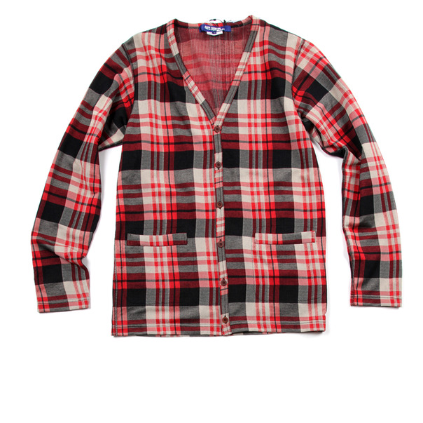 Comme Des Garcon By Junya Watanabe Plaid Check Cardigan