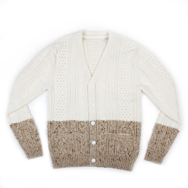 Sacai Cable Knit Split Cardigan-5