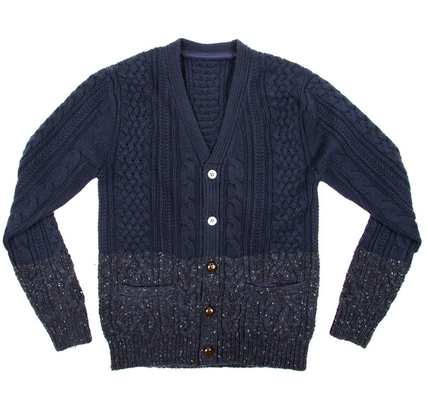 Sacai Cable Knit Split Cardigan