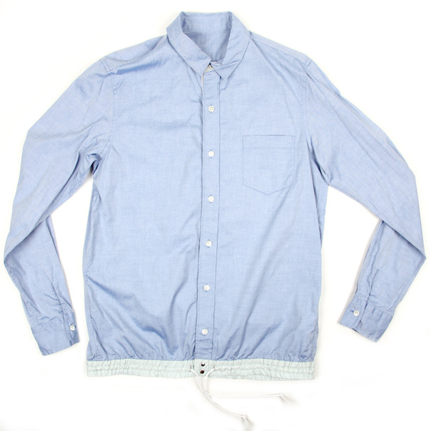 Sacai Solid BD Shirt Elastic Cuff