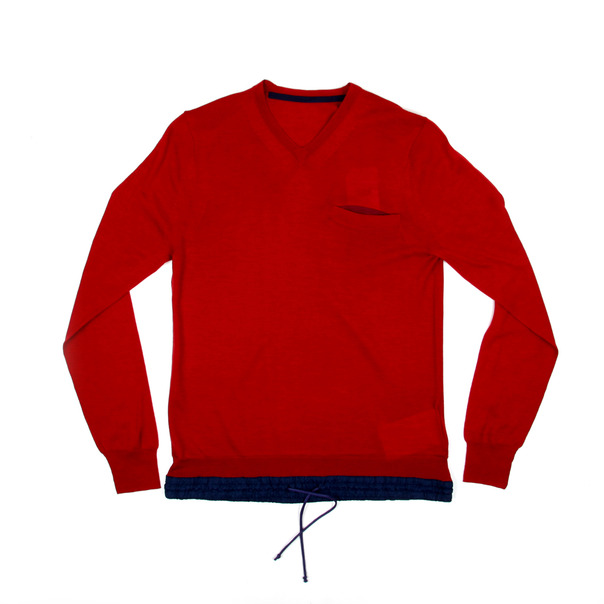 Sacai V Neck Sweater-6