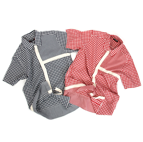 CASH CA  Gingham Mondrian SS Shirt-10