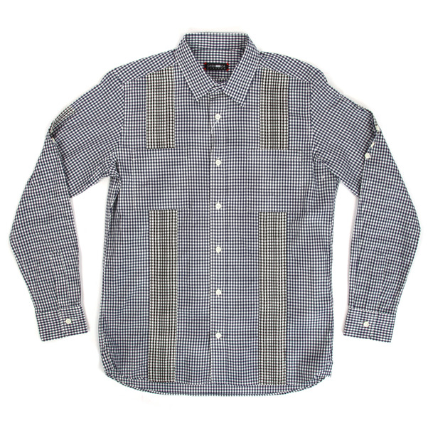 CASH CA  Gingham Panel Shirt
