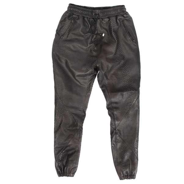 En Noir Snake Embossed Pants