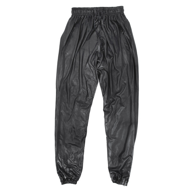 En Noir Waxed Cotton Pants