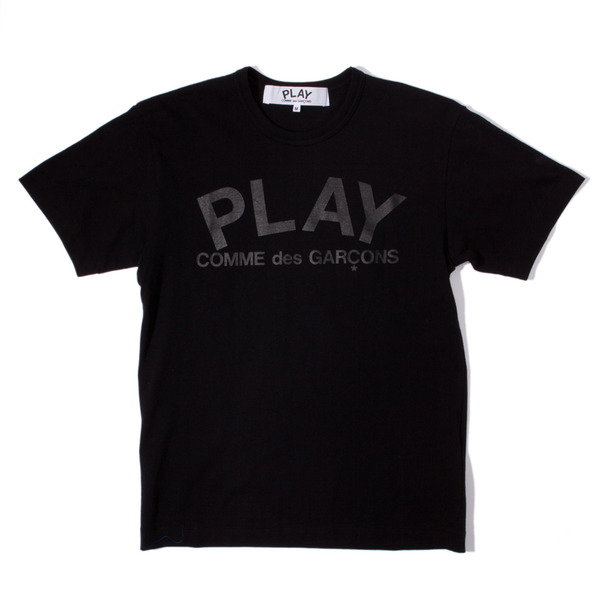 CdG Play Very Black Play T-Shirt