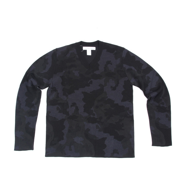 COMME des GARCONS SHIRT Camo V-Neck Sweater