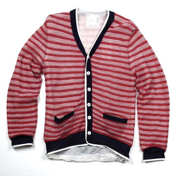 Sacai Stripe Cardigan-10