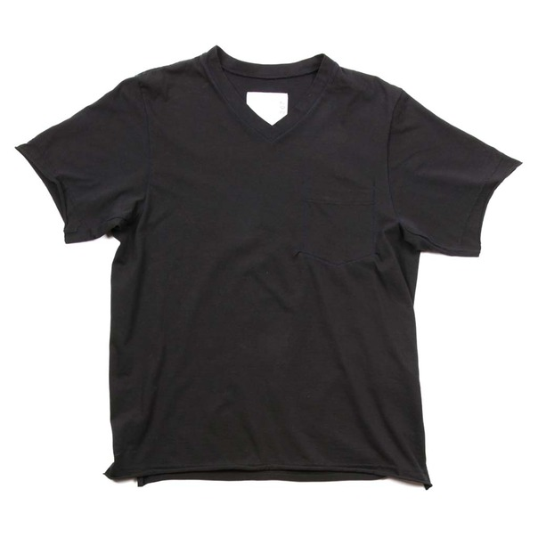 Sacai V Neck Pocket Tee Shirt