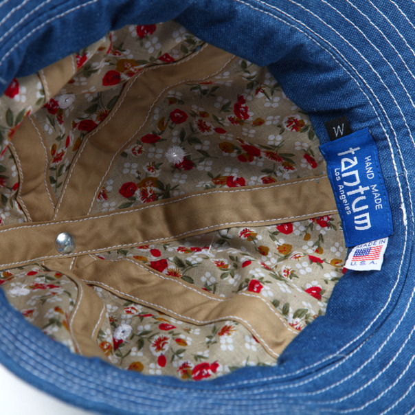 Tantum Bucket Hat Linen Denim-3 2