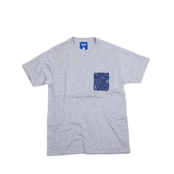 Tantum Blue Paisley Pocket Tshirt