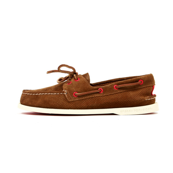 Sperry  2 Eye Boat Shoe Perf Suede