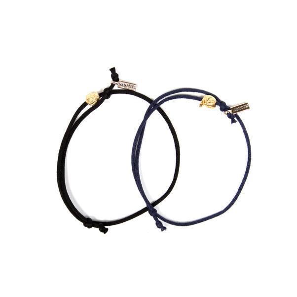 Vanities  XS Gold Skull Bracelet-3