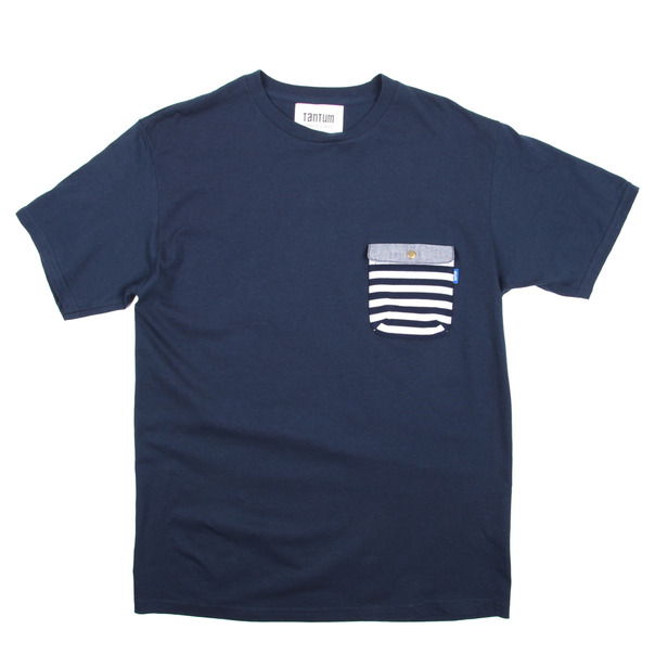Tantum Chief Pocket T-Shirt Border Stripe