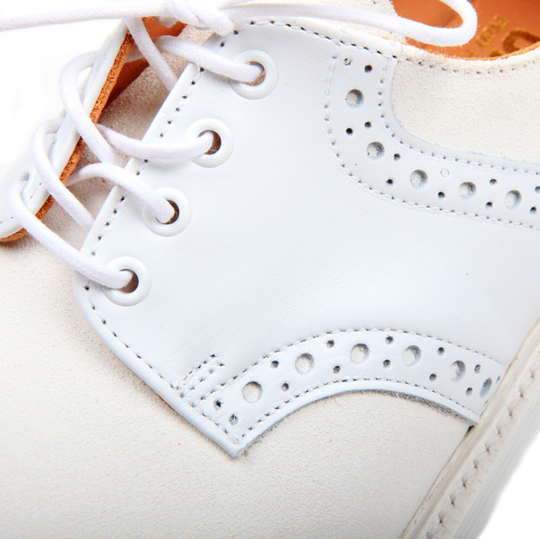 USSKB Mark McNairy White Lea  Suede Saddle Shoe-2