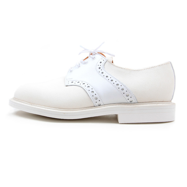 USSKB Mark McNairy White Lea  Suede Saddle Shoe