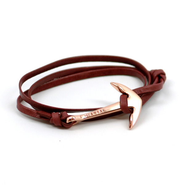 Miansai Anchor Rose Leather Bracelet-3