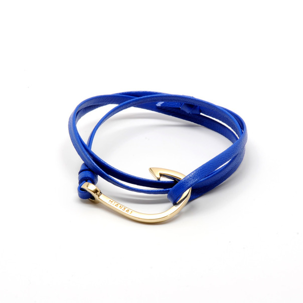 Miansai Gold Leather Anchor Bracelet-2