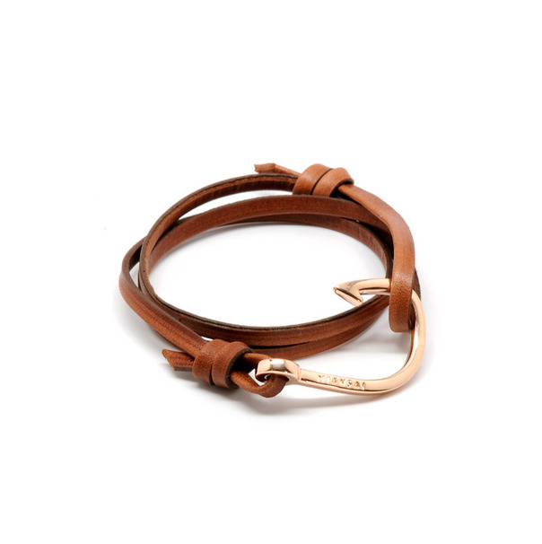 Miansai Rose Leather Anchor Bracelet-2 2