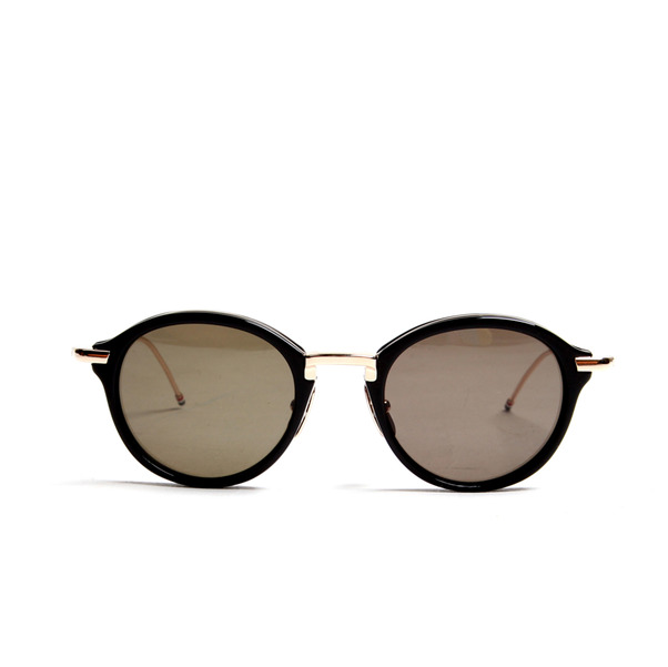 Thom Browne Eyewear TB-011 Black 12K Gold G-15