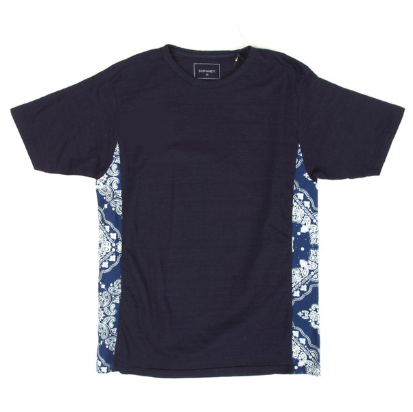 Sophnet%20%20Indigo%20Fabric%20Mix%20Tee