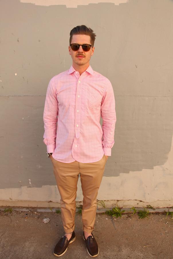 pink khaki pants - Pi Pants