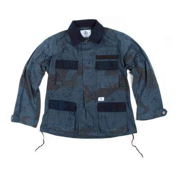 U.S. Alteration Overdye Chocolate Chip Camo Jacket Indigo Flap